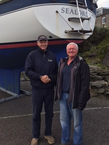 Ian Sawkins of Boatshed Scotland and Sealord owner Chris Woods