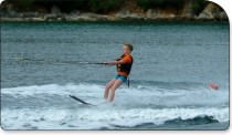 Ruairi waterskiing